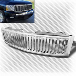 2007 2013 Chevy Silverado 1500 Chrome Front Sport Grille Replacement Grill Set