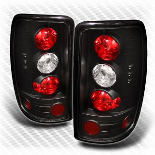 00 06 Suburban Tahoe Yukon Barn Door Black Tail Lights Lamps Rear Brake Pair Set
