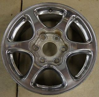 "GMC Sierra Yukon Denali Factory 17"" Polished Wheel Rim 5132 4"