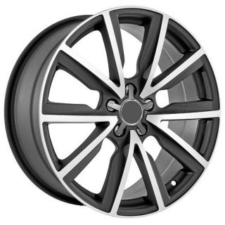 19 inch Audi Wheels Rims Matte Black