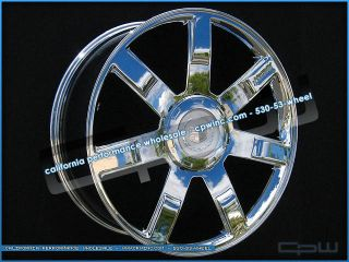 "Set of 4 New Wheels Rims Fit Cadillac Escalade 24"" inch Chrome OE Style 24S"