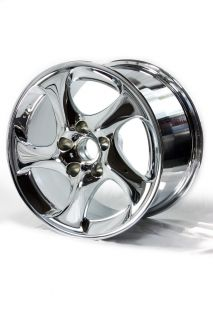 "18"" Factory Chrome 01 05 Porsche 911 Turbo Wheels 67260 67261"