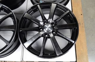 17 5x108 Black Polished Rims Lincoln Continental LS MK VIII Volvo Jaguar Wheels