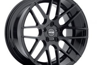 "19"" Ground Force GF07 19x8 5 19x9 5 Concave Black Wheels Fits Ford Mustang"