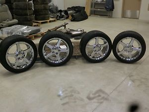 "Corvette Chrome Wheels Tires 17"" 18"" C5 C6"