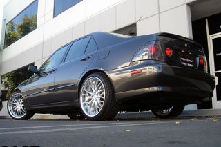 "19"" Lexus IS300 MRR GT1 Silver Staggered Wheels Rims"