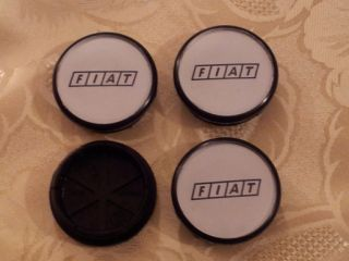 Fiat Alloy Wheels Centre Caps 500 600 Bravo Brava Coupe Punto Badge Emblem Silve