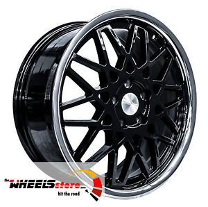Blq Black Chrome Lip 18x7 5 5x112 Audi Mercedes Volkswagen Chrysler Wheels
