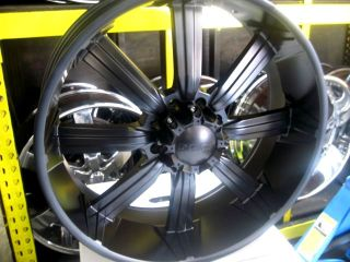 "26""Hummer H2 SUT Matt Black Wheels Tires Escalade 28"