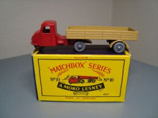 Matchbox Moko Lesney No 10B Vintage Mechanical Horse Trailer Mint in Box