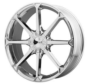 "22"" x 8 5"" Helo HE870 5x100 PT Cruiser Legacy Outback Corolla Chrome Wheels Rims"