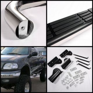 "97 03 Ford F150 Super Cab Stainless Steel 3"" Side Step Nerf Bars Running Board"