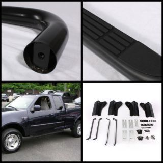 "97 04 Ford F150 Regular Cab Black Coated 3"" Side Step Nerf Bars Running Board"