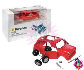 Haynes Official Red Mini Cooper Build Your Own Car Model Kit Brand New