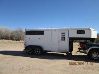 1995 Titan 2 Horse Straight Load Horse Trailer with Living Quarters