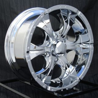 17 inch Chrome Wheels Rims Chevy GMC Sierra 6 Lug 1500 Truck Avalanche Helo Maxx