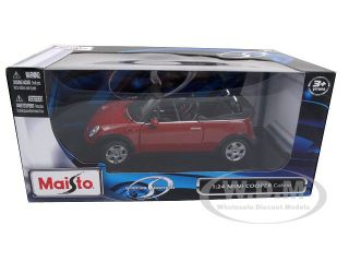 Mini Cooper Convertible Red 1 24 Diecast Model Car