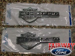 09 thru 14 F 150 Genuine Ford Parts Harley Davidson Fender Emblems Pair