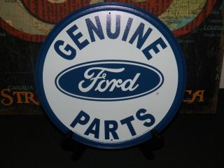 Genuine Ford Parts Tin Metal Sign Garage Sho Man Cave