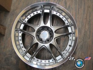 One Axis Lenzo 19x9 5 Racing JDM Rim Wheel 5x100 40 Hypersilver
