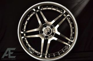 18 inch Mercedes CL500 CL550 CL600 Wheels Rims and Tires RW2 Black
