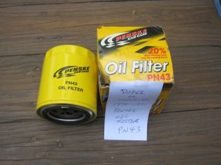Penske PN43 Car Care Oil Filter Fits Dodge Chrysler 1970 91 Brand New