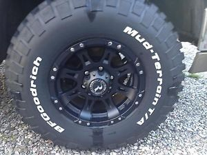 BF Goodrich Mud Terrain Tires and Raceline Raptor Wheels 16x8 with 255 85R16