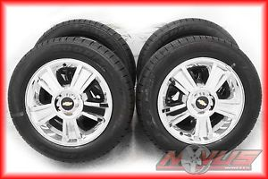 "20"" Chevy Tahoe LTZ Silverado GMC Yukon Chrome Wheels Goodyear Tires 22 GM"