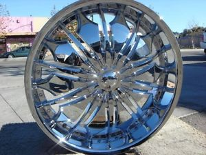 22 inch Chrome T706 Chrome Wheels Chevy Tahoe Avalanche