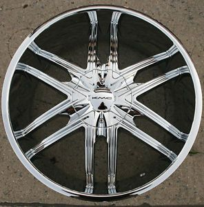 KMC Splinter KM678 22 x 9 5 Chrome Rims Wheels BMW 740 745 5H 15