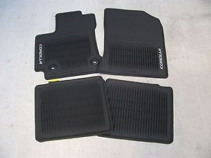 2014 Toyota Corolla All Weather Floor Mat Set PT908 02143 20 Auto Trans Car