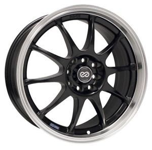 15 Enkei J10 Rims Wheels Black 15x6 5 4x100 4x108 38
