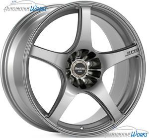 18x9 5 Enkei RP03 5x114 3 5x4 5 38mm Silver Rims Wheels inch 18""