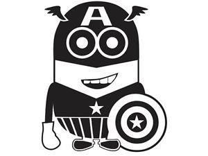 Captain America Minion Despicable Me Funny Car Truck Window Vinyl Decal Sticker