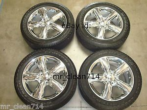 "20"" Dodge Durango Citadel Chrome Wheels Rims Tires 11 13 12 Jeep Cherokee"