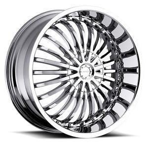 "22"" inch 5x110 5x115 Chrome Wheels Rims 5 Lug Cadillac Chevy Pontiac"