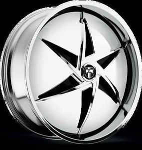 "22"" Dub Spin Snap S730 Wheel Set 22x8 5 Chrome Rims for 5 6 Lug Vehicle 22inch"