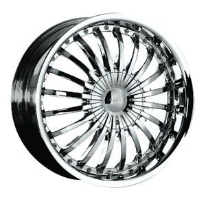 "Pinnacle P38 Silo Chrome 22"" Wheel Tire Package"