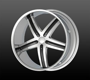 "22"" Wheels Rims and Tire Package DW9 Chrome Black 5x120 65 ET13 Charger Impala S"