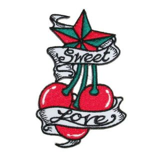 SK A80 Sweet Love Iron on Patch Embroidered T Shirt Accessories Car Motorcycle