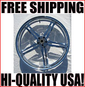 New 21 x 3 25 Front Icon Billet Chrome Wheel Rim Harley FXST Softail FXDWG Dyna