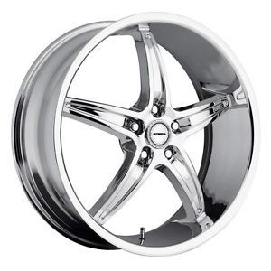 22 inch Strada Riga Chrome Wheels Rims 5x115 300C Charger Magnum Challenger AWD
