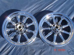 Harley Chrome 9 Spoke Road Glide Road Touring Wheels 00 08 Exchange Only FLHR