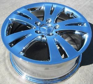 "Exchange Your Stock 4 17"" Factory Mercedes C300 C350 Chrome Wheels Rims 2008 13"