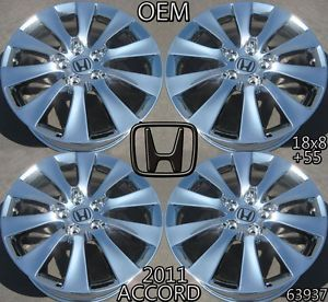 Honda Accord Coupe 18 08 09 10 Factory Wheels Rims 63937 Chrome