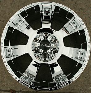 "Incubus Krawler 815 20"" Chrome Rims Wheels Titan Pickup 04 Up 20 x 9 0 6H 00"