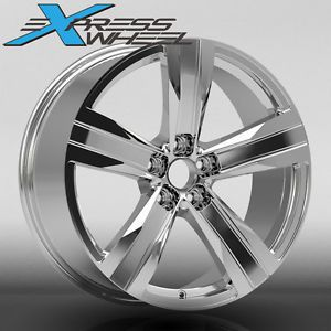 "20"" Chevroler Camaro ZL1 Style New Alloy Wheels Rims Chrome Staggered"