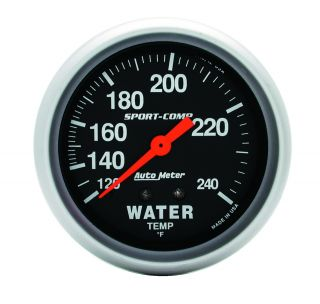 Auto Meter 3432 Sport Comp Mechanical Water Temperature Gauge