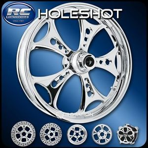 RC Components Holeshot Chrome Custom Motorcycle Wheel Harley Baggers 21""