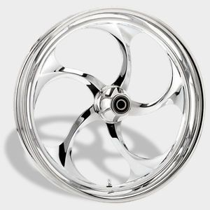 "Harley Custom Wheels 21"" Chrome Rim Set"
